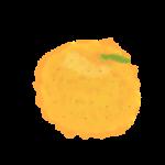 オレンジ、みかんイラスト無料手書き風