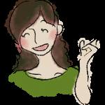 提案をする女性、手書き、無料素材